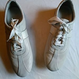 Cole Haan pearl gray leather sneakers-sz 8 1/2